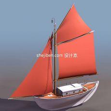 帆船型3d模型下载