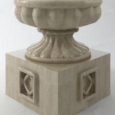 欧式喷泉3d模型下载