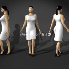 生活普通女性人体3d模型下载