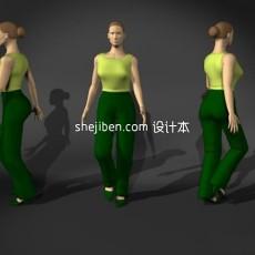 普通中年女性人体3d模型下载