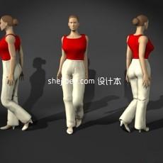 人物时尚女性3d模型下载