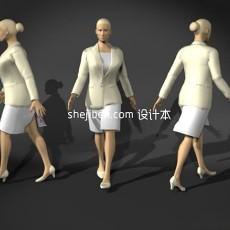 中年女性人体3d模型下载