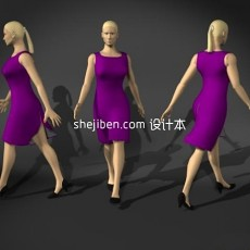 人体12-女人体5-5套3d模型下载