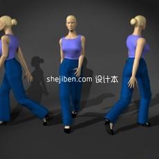人体11-女人体4-5套3d模型下载