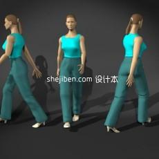 女性身体3d模型下载