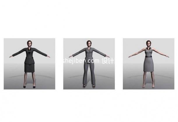 职场女性3d人体模型下载