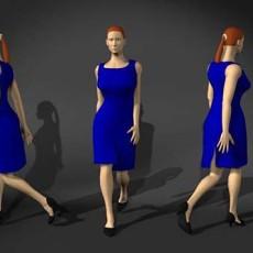 普通蓝衣人体3d模型下载