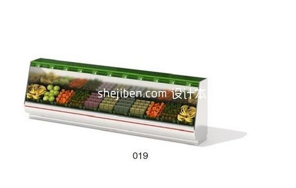 超市货架3D模型10