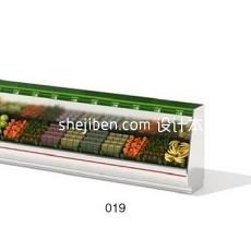 超市货架103d模型下载