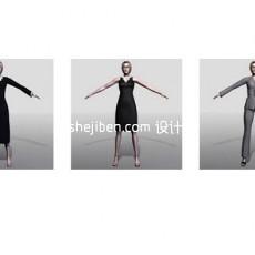 中年女性max人体3d模型下载