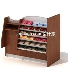 超市商场货架3d模型下载