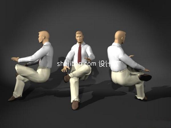3D人体模型15-男人体2-5套