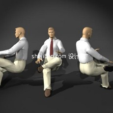 人体15-男人体2-5套3d模型下载