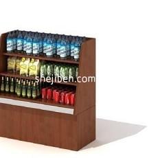 超市仓库货架3d模型下载