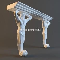 欧洲石膏雕塑3d模型下载