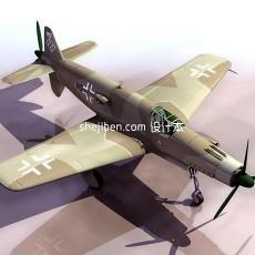 战斗机-飞机素材143d模型下载