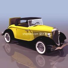 福特v8老爷车3d模型下载