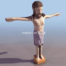 卡通雕塑3d模型下载