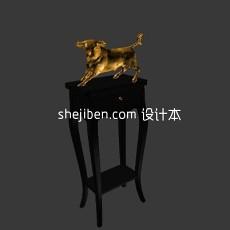 青铜雕塑3d模型下载