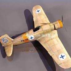 战斗机-飞机素材273d模型下载