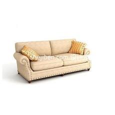 布艺双人沙发3d模型下载