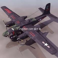 战斗机-飞机素材183d模型下载