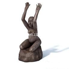 人物雕塑摆设品3d模型下载