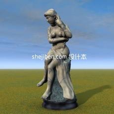 艺术人体3d模型下载