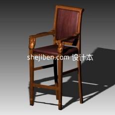椅凳3d模型下载