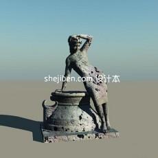女性人体艺术人体雕像3d模型下载
