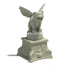 动物雕塑3d模型下载