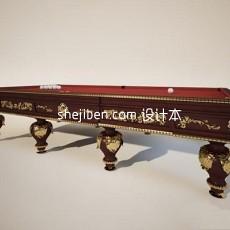 桌球台3d模型下载