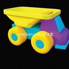 玩具工程车3d模型下载