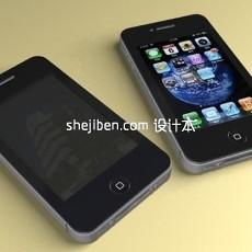 iphone4手机3d模型下载