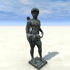 男人雕塑3d模型下载