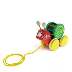 小蜗牛玩具车3d模型下载