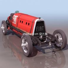 菲亚特汽车3d模型下载