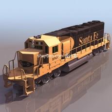 观光火车3d模型下载
