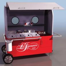 冰激凌推车3d模型下载