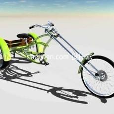 三轮车3d模型下载