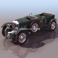 宾利bentley老爷车3d模型下载