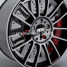 轮胎_车轮毂3d模型下载