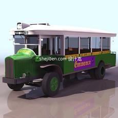 古董大卡车3d模型下载