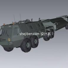 运输装甲车免费3d模型下载