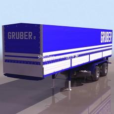 卡车-货车-集装箱运输车3d模型下载