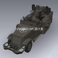 装甲车m163d模型下载