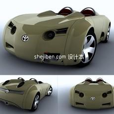 迷你敞篷汽车3d模型下载