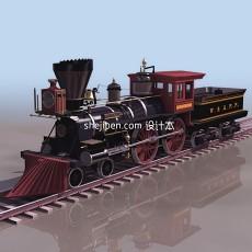 老式火车3d模型下载