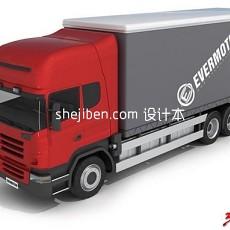 箱式卡车3d模型下载