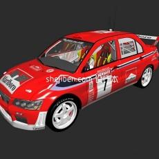 三菱mitsubishi lancer wrc 赛车3d模型下载